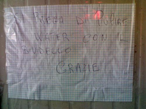 Cartelli Da Bagno : Varie by grappaman